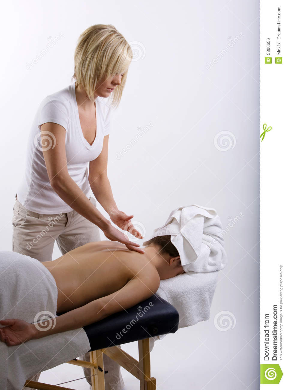 girl getting a massage