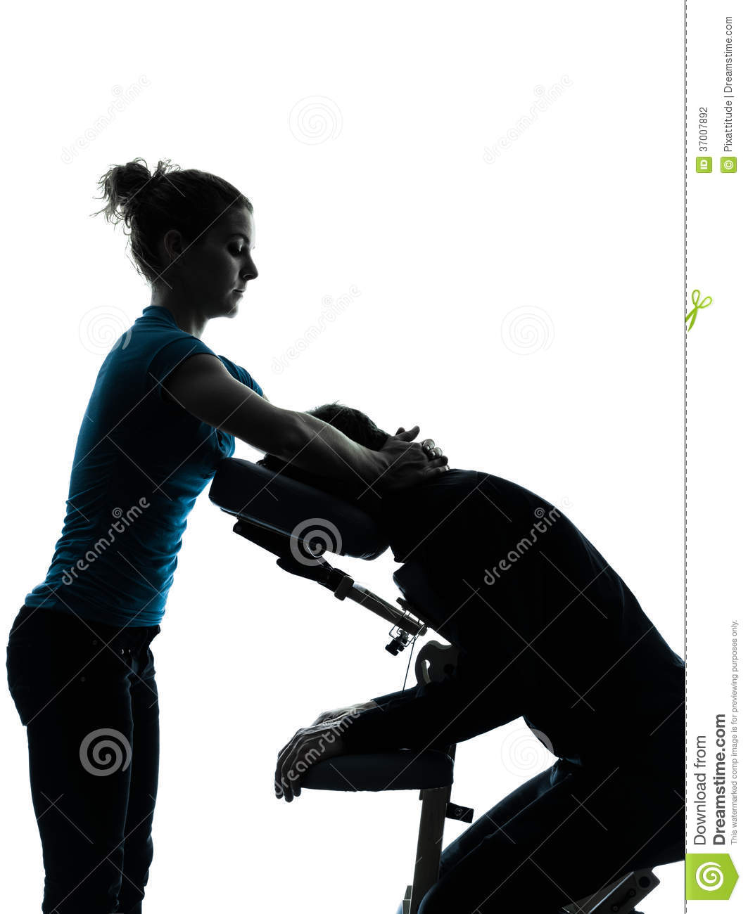 Massage Therapy With Chair Silhouette Stock Photo - Image ...
