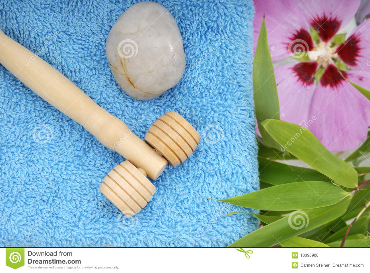 Massage therapy tools stock photo. Image of flower, wooden ...