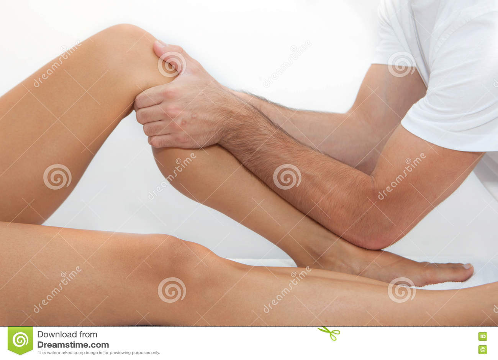 Massagem terapêutica do pé