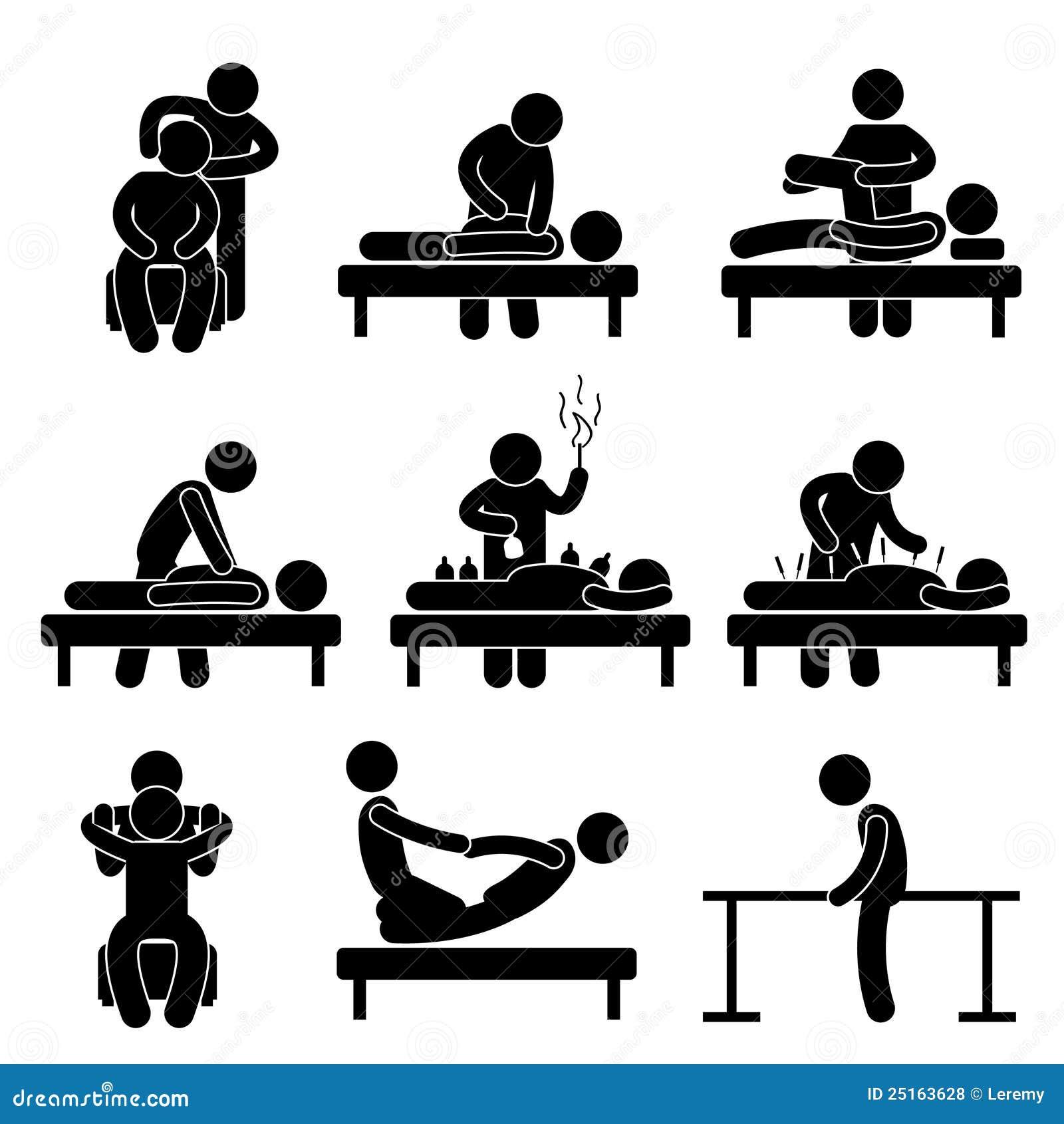 Massaggio di agopuntura di fisioterapia di chiroterapia