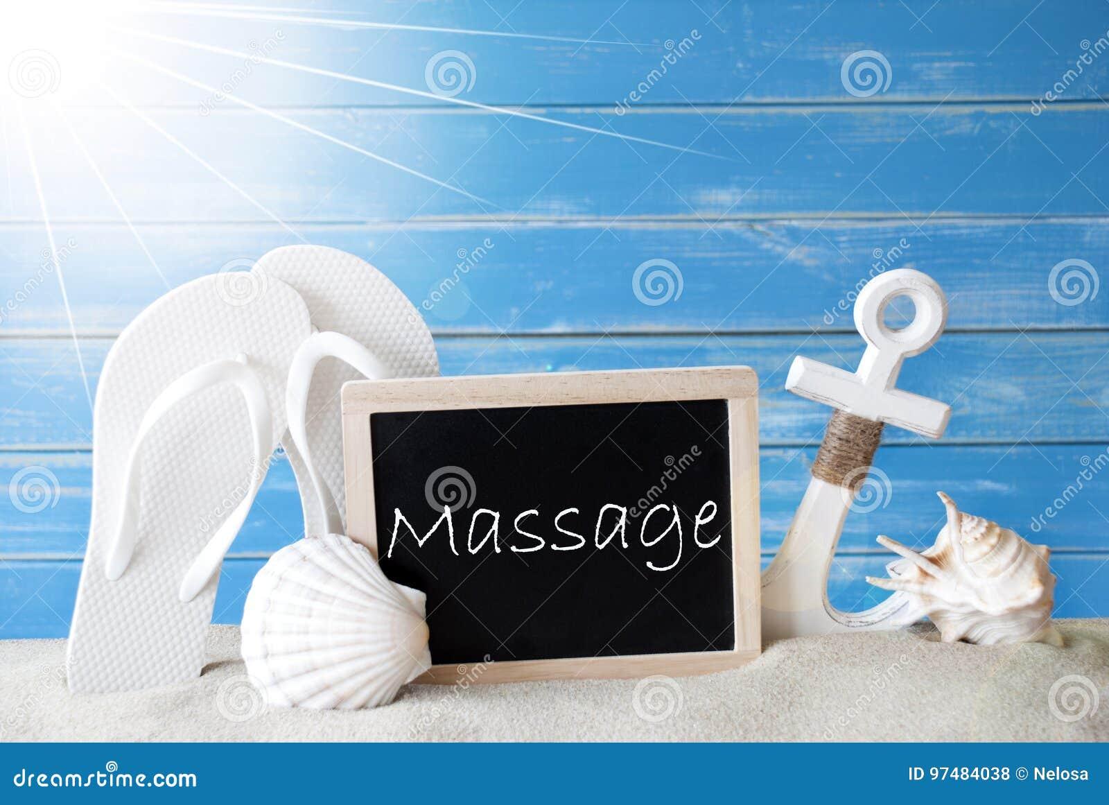 Massaggio di Sunny Summer Card With Text