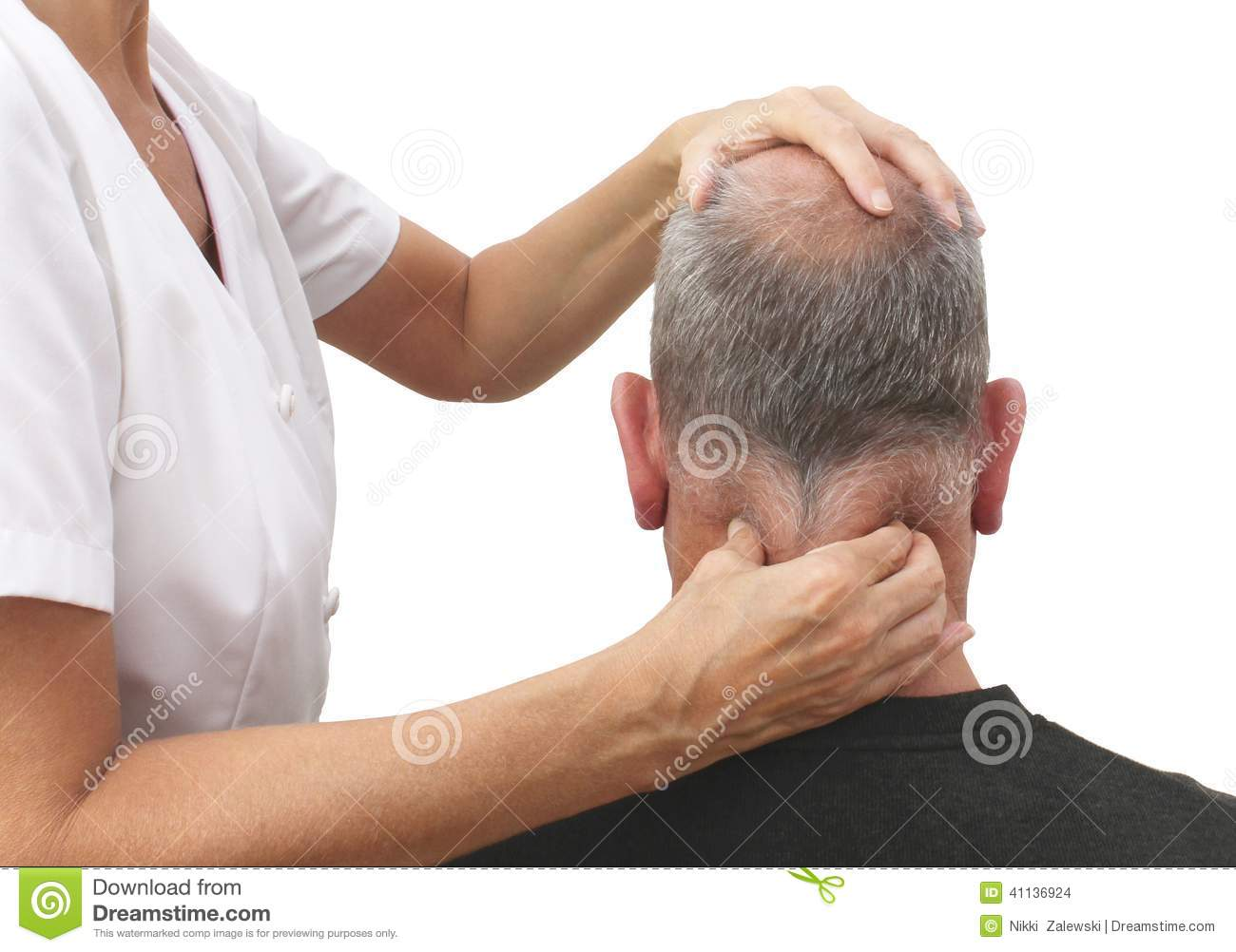 Massaging Tight Neck Muscles Stock Photo Image Of Bodywork