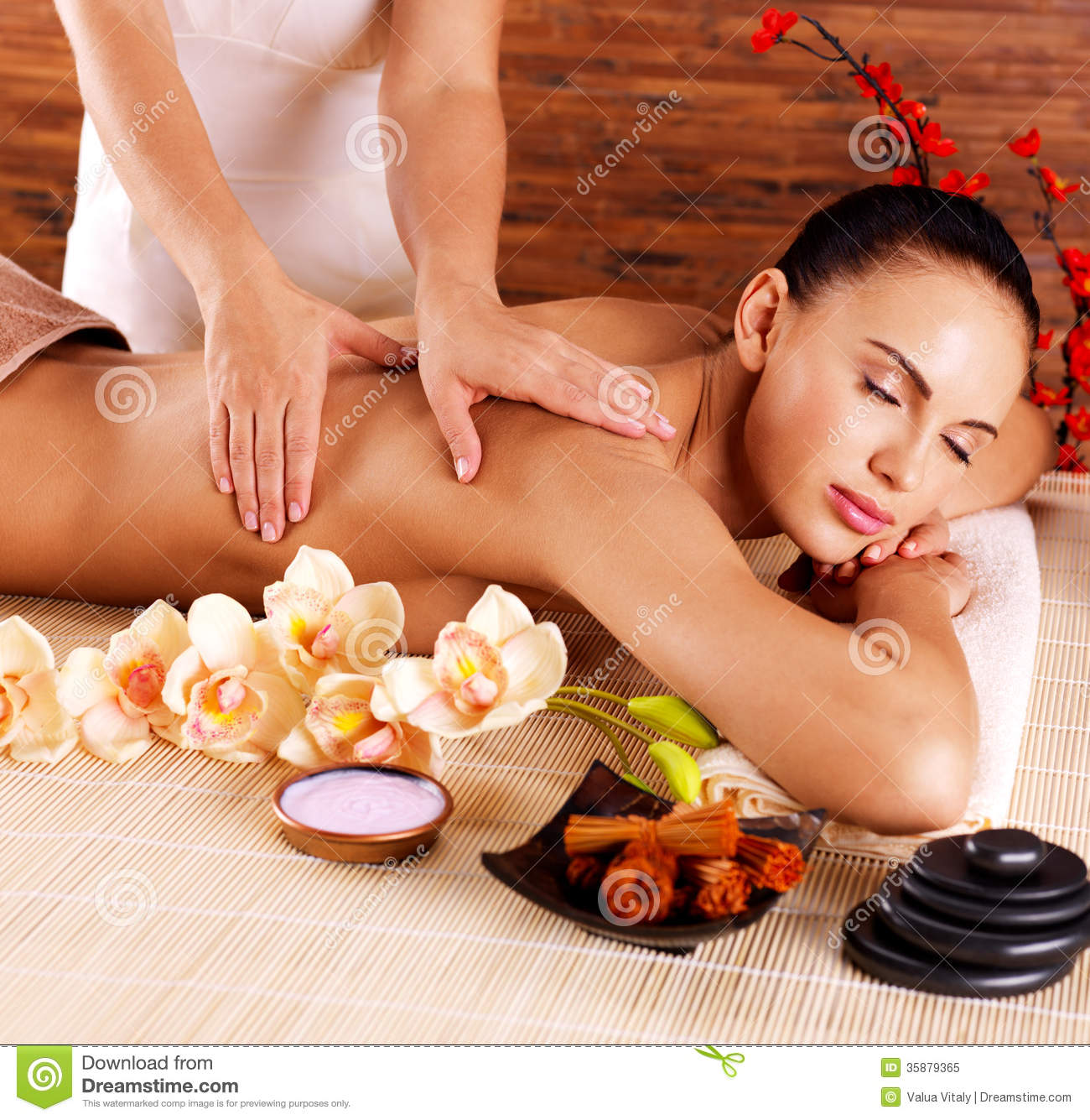 Masseur doing massage on woman body in spa salon royalty free stock photo image 35879365 - Salon massage body body paris ...