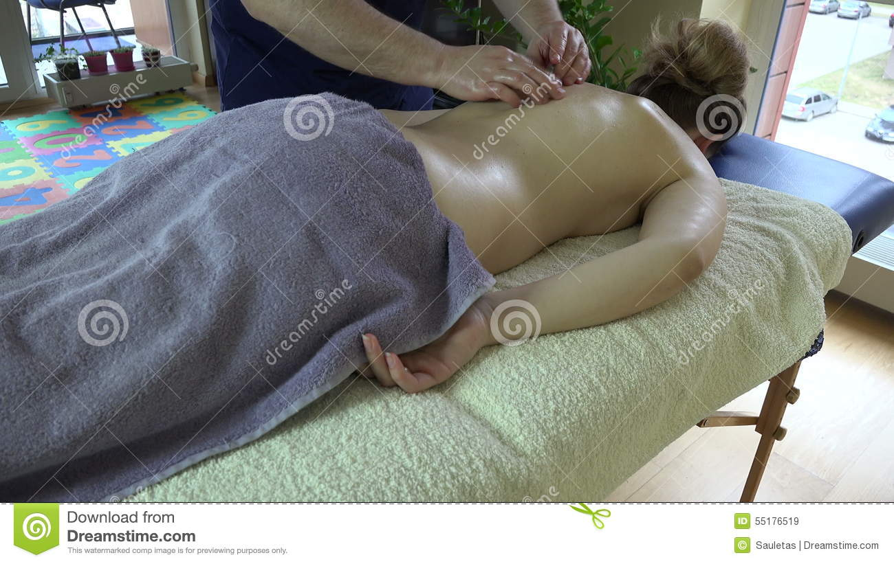 Masseur Therapist Treat Female Client On Table In Apartment 4k Stock Video Video Of People Relax 55176519