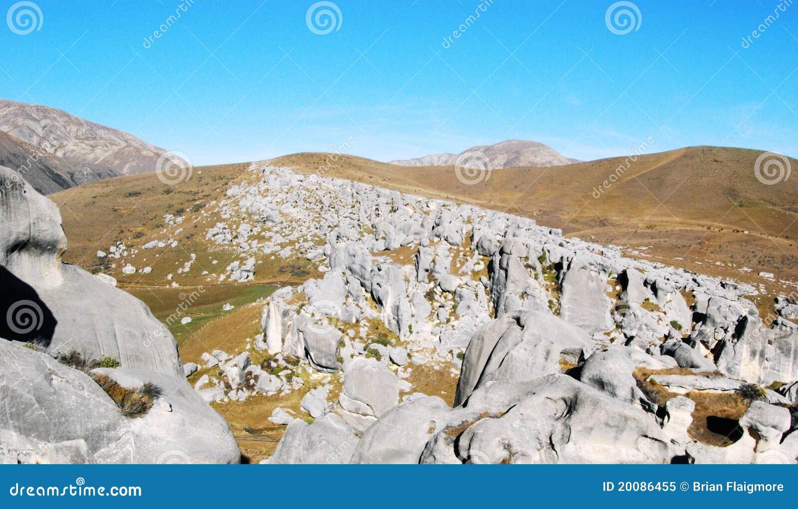 Massi della collina del castello