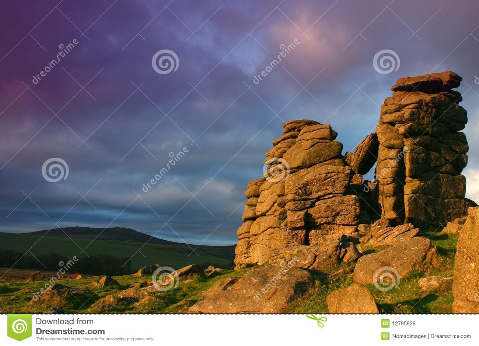 Massif de roche de chien