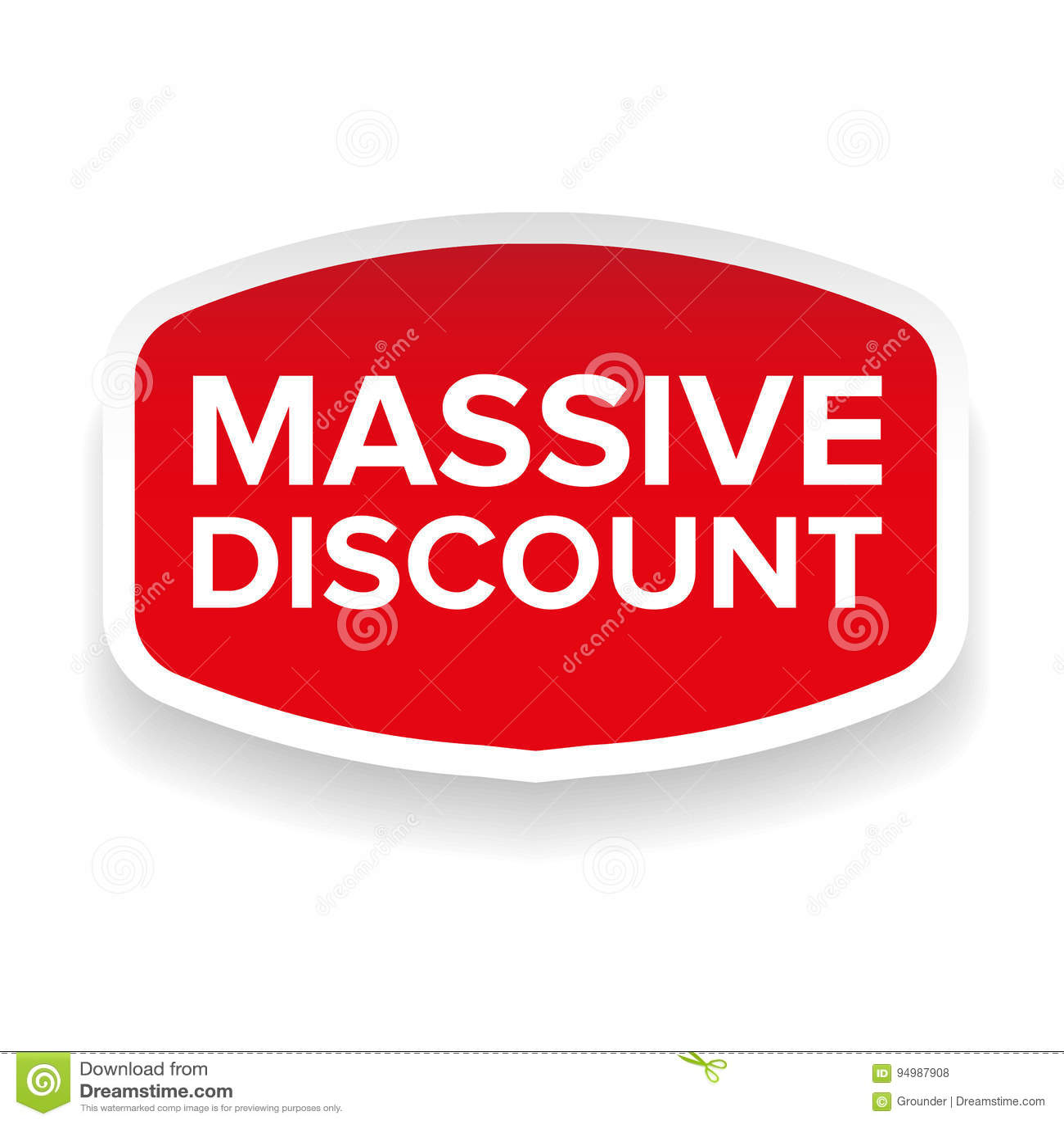 Massive Discount Sticker Stock Vector Illustration Of Season 94987908