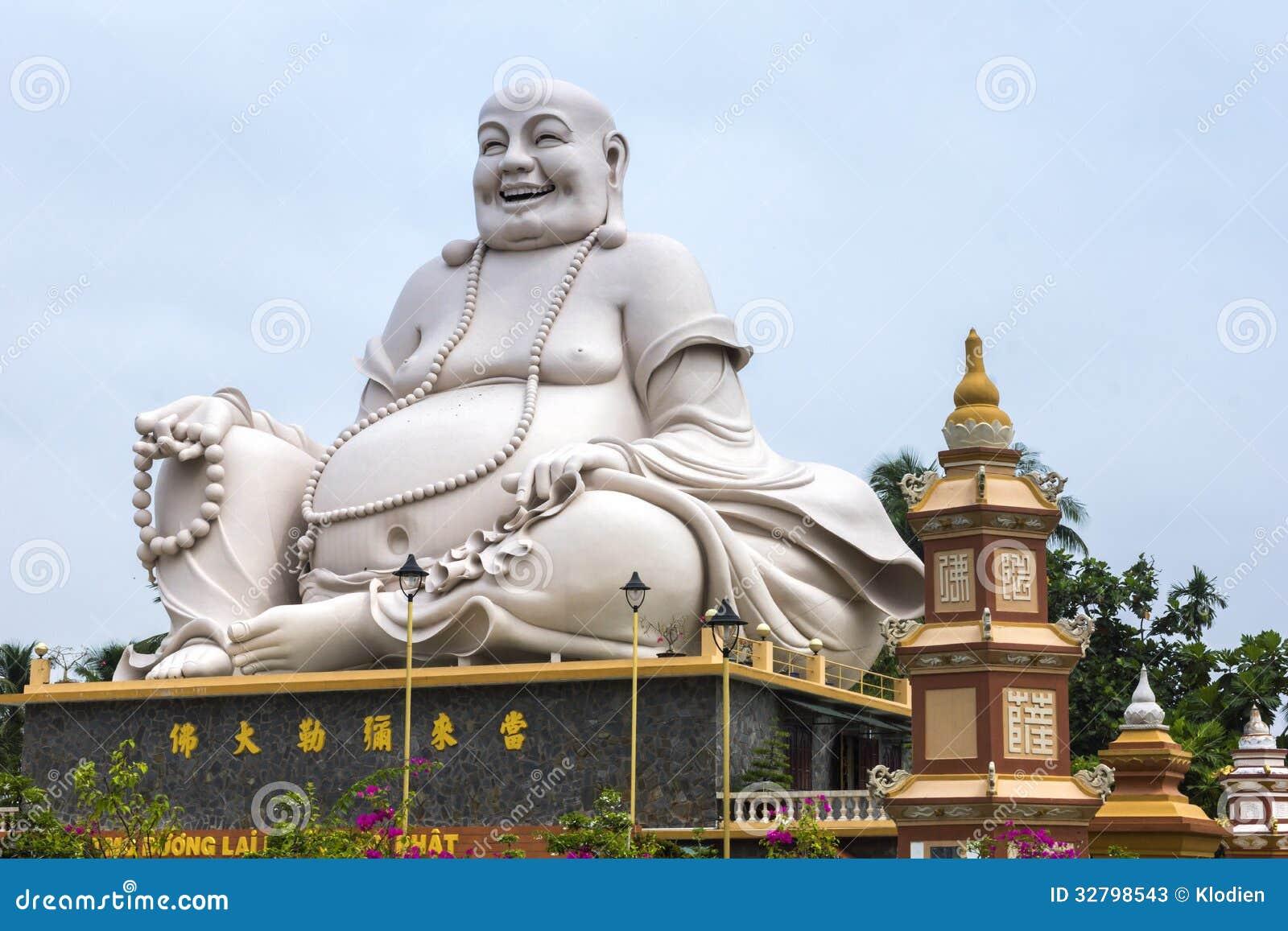 Vinh Vietnam  city pictures gallery : ... : Massive white Sitting Buddha statue at Vinh Trang Pagoda, Vietnam