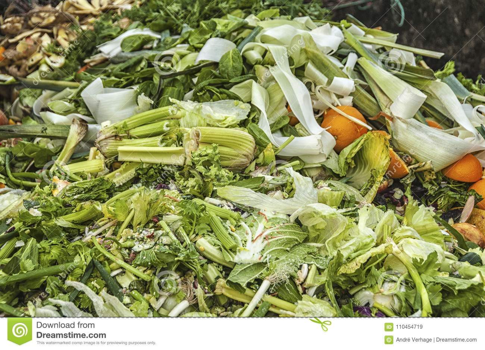 Massor av avfall för organisk avfalls