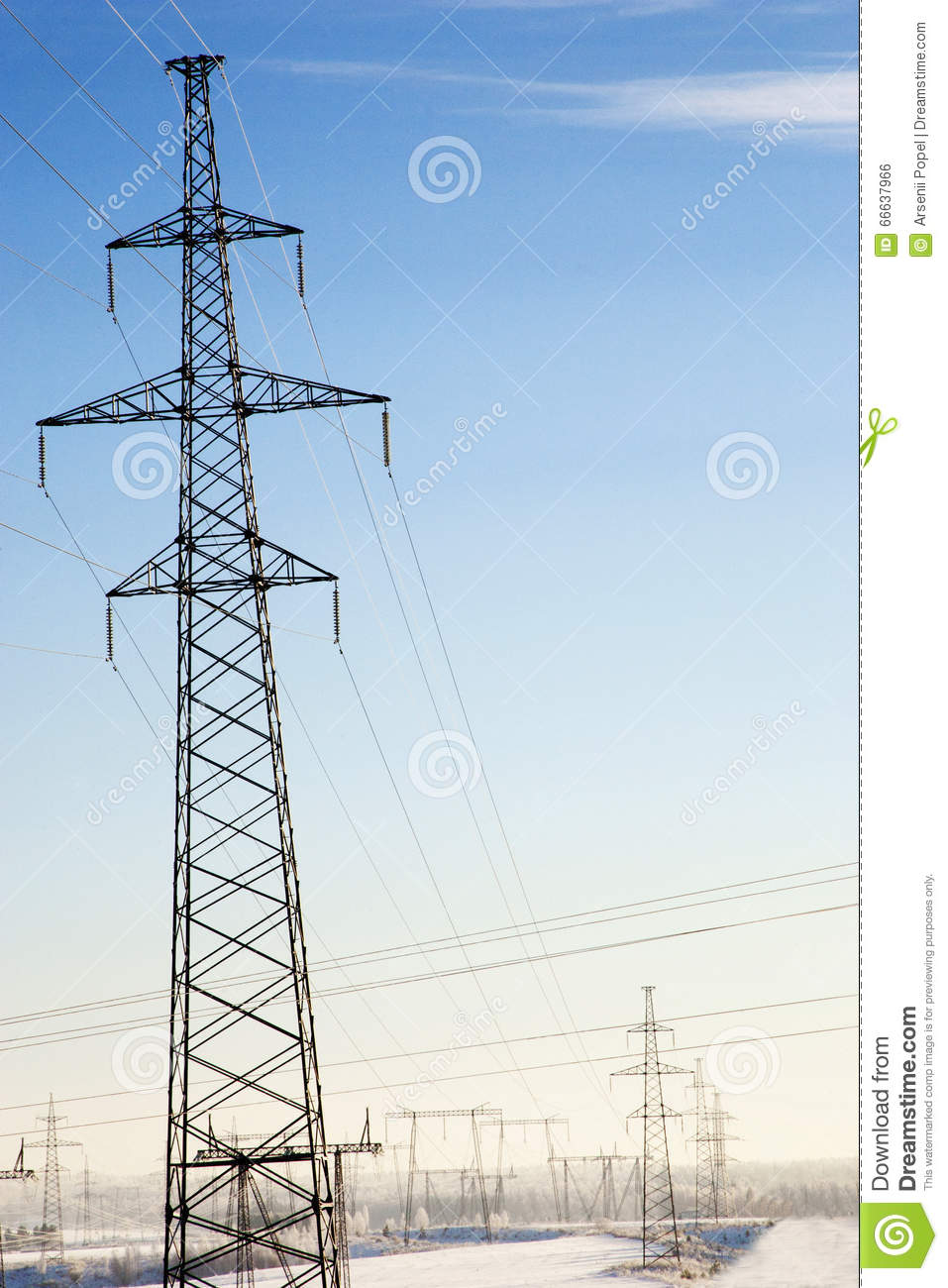 mast electrical wiring in winter landscape stock photo image, wiring, landscape electrical wiring