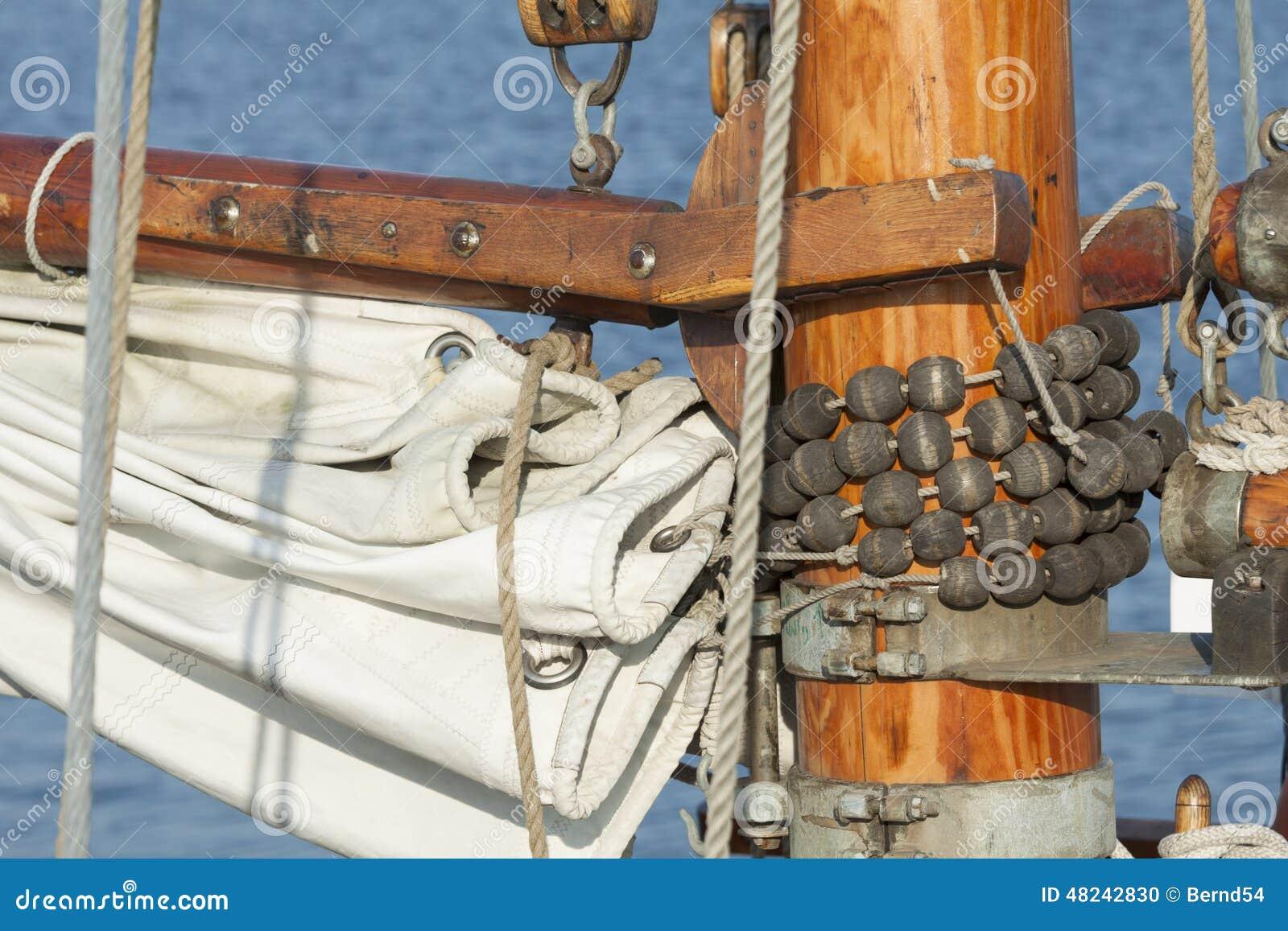 Mast slider stock photo  Image of gooseneck, water, gaff - 48242830