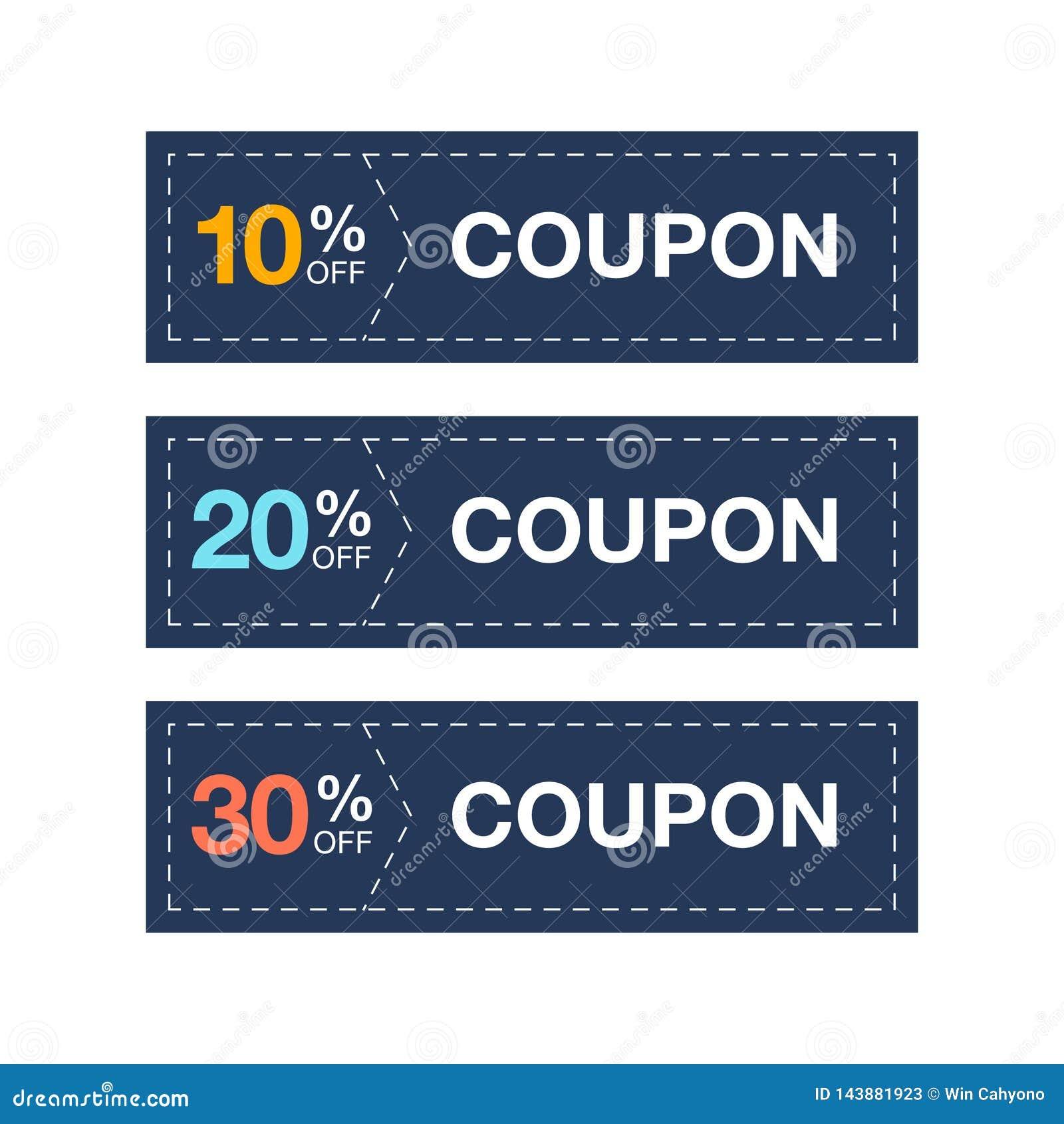 Label coupon sale promotion vector