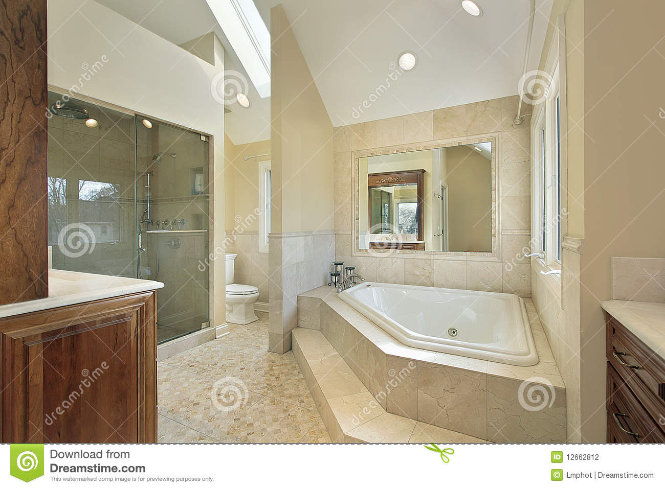 Http Dreamstime Com Stock Photography Master Bath Large Tub Image12662812