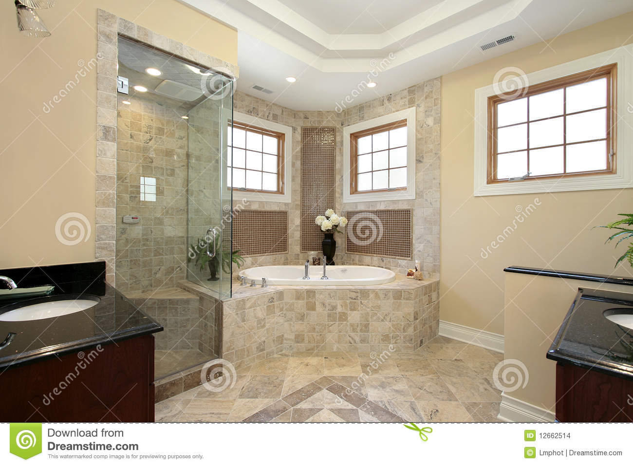 Master bath in new construction home stock images image for Pictures of master bathrooms in new homes
