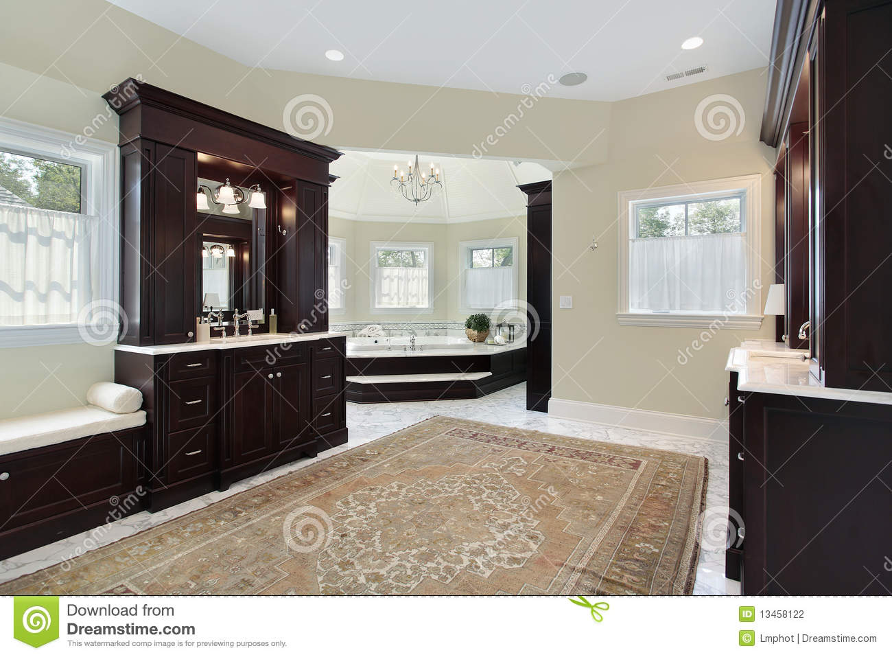 Master Bath With Separate Tub Room