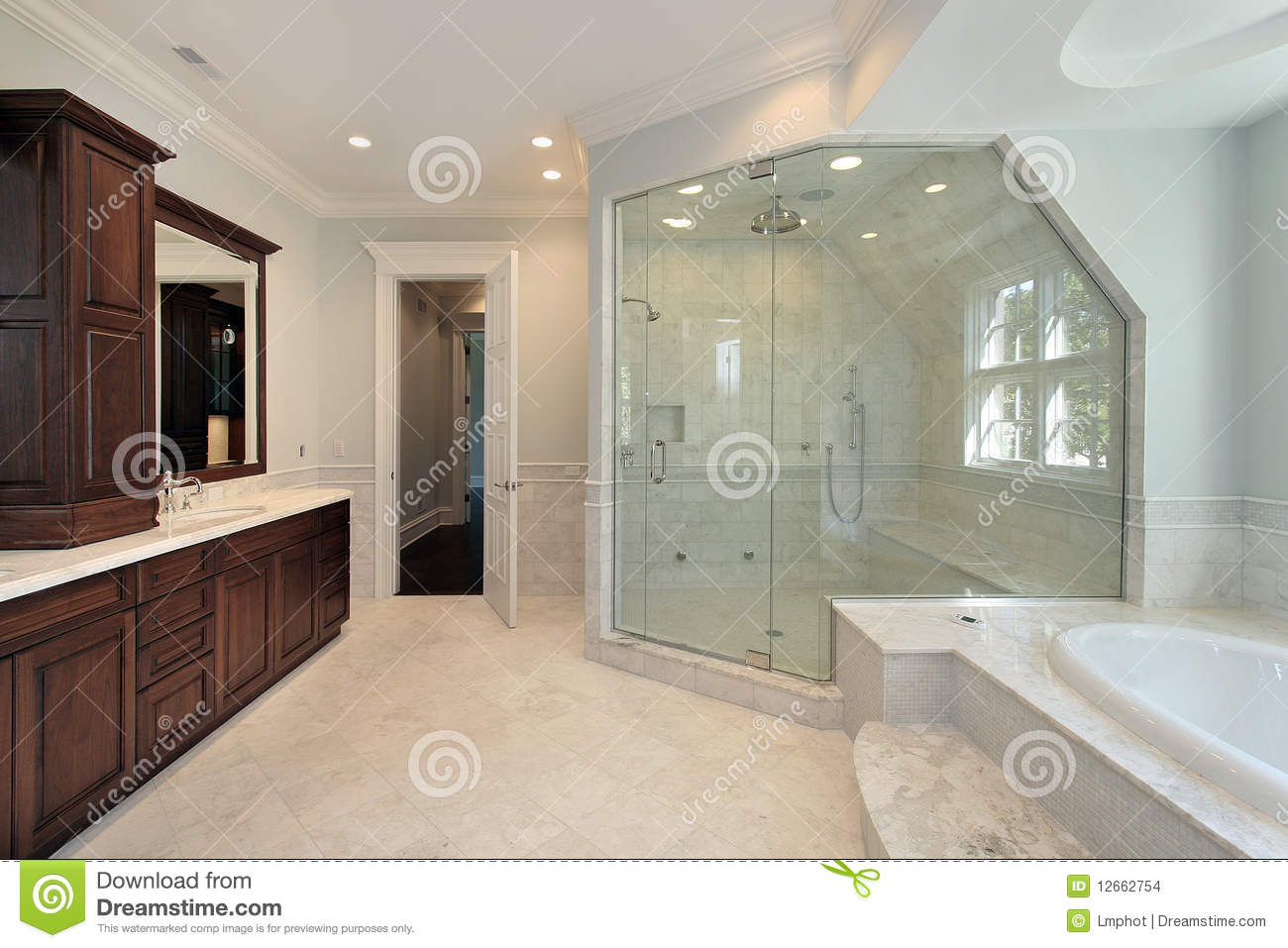 Master Bath With Step Up Tub Stock Images Image 12662754