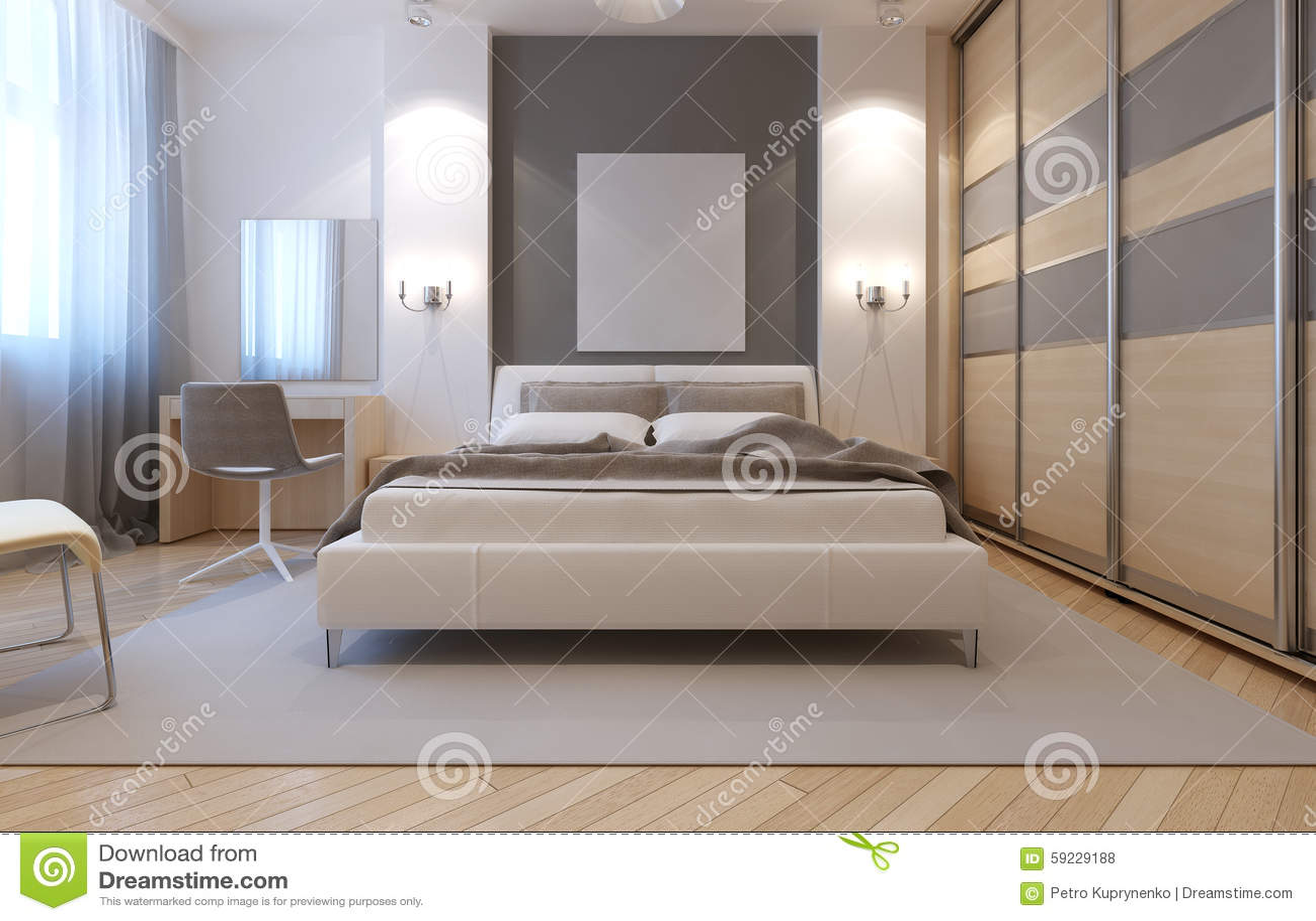 Master Bedroom Avangard Design Stock Illustration Illustration Of