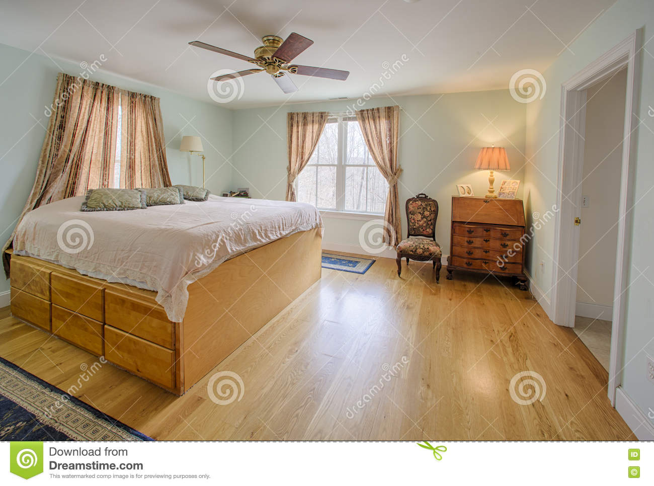 Master Bedroom Stock Image Image Of Attached County 76308315