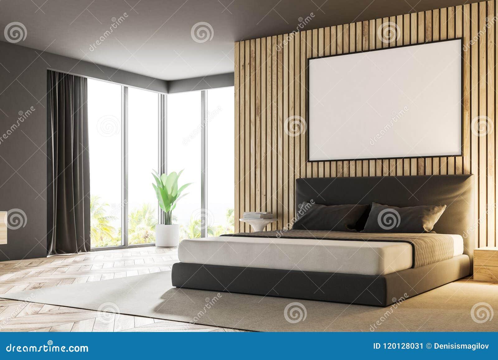 Wood Master Bedroom Corner, Poster Stock Illustration - Illustration ...