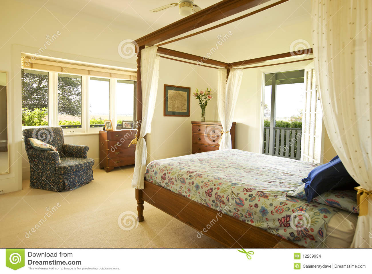 Master Bedroom Country House Stock Photo - Image of bedroom ...