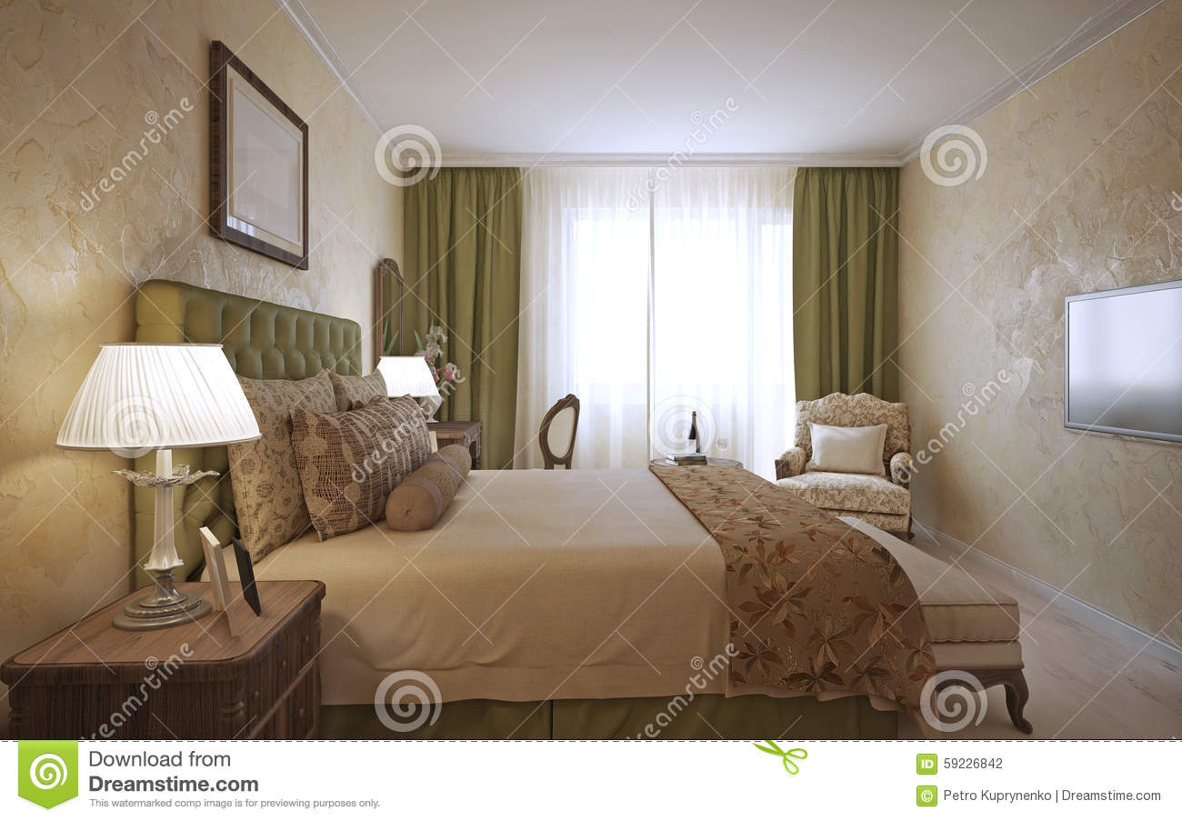 English style bedrooms - Master Bedroom English Design Stock Photography