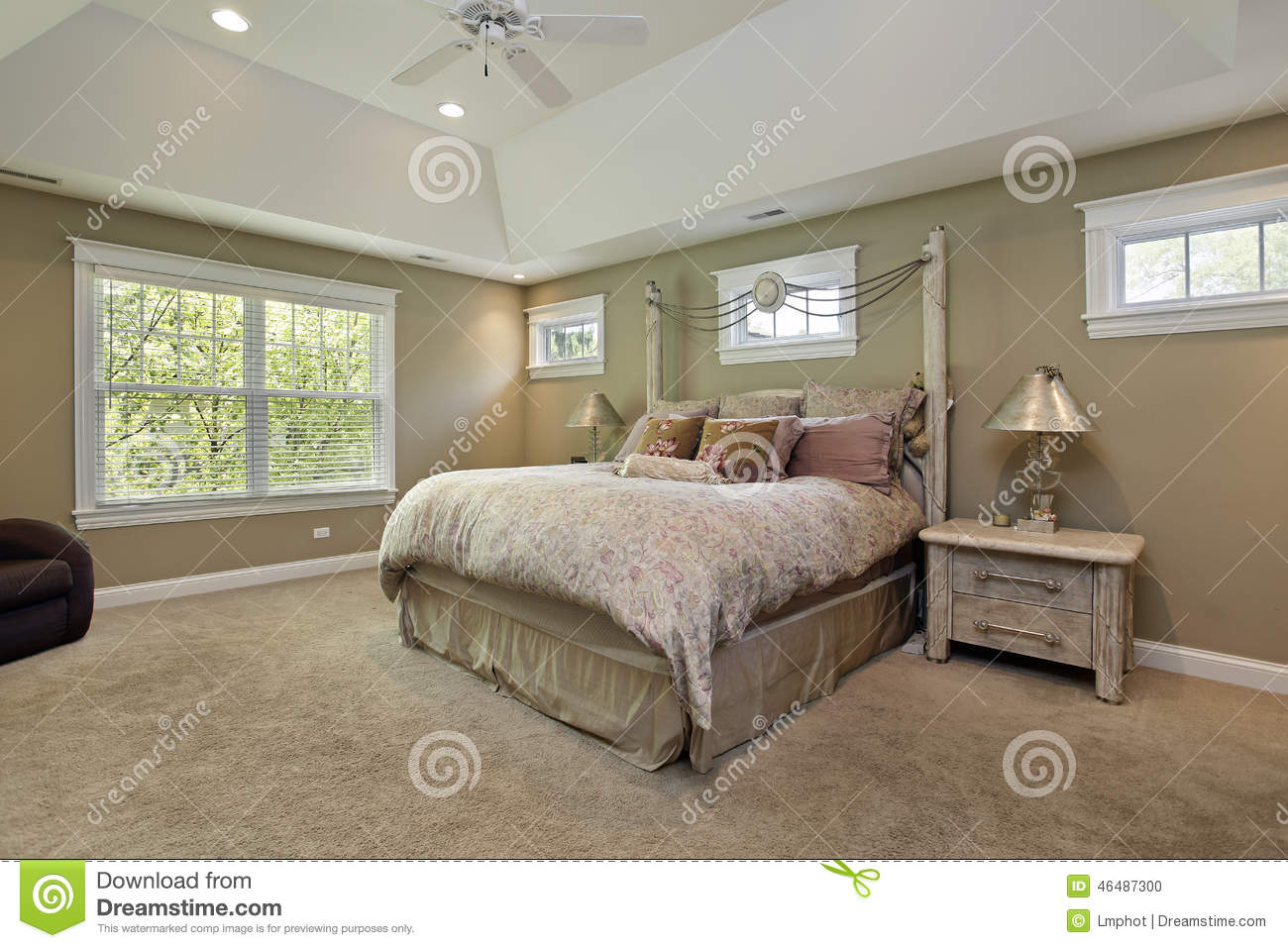 Master Bedroom Gold Walls master bedroom with gold walls royalty free stock photo - image