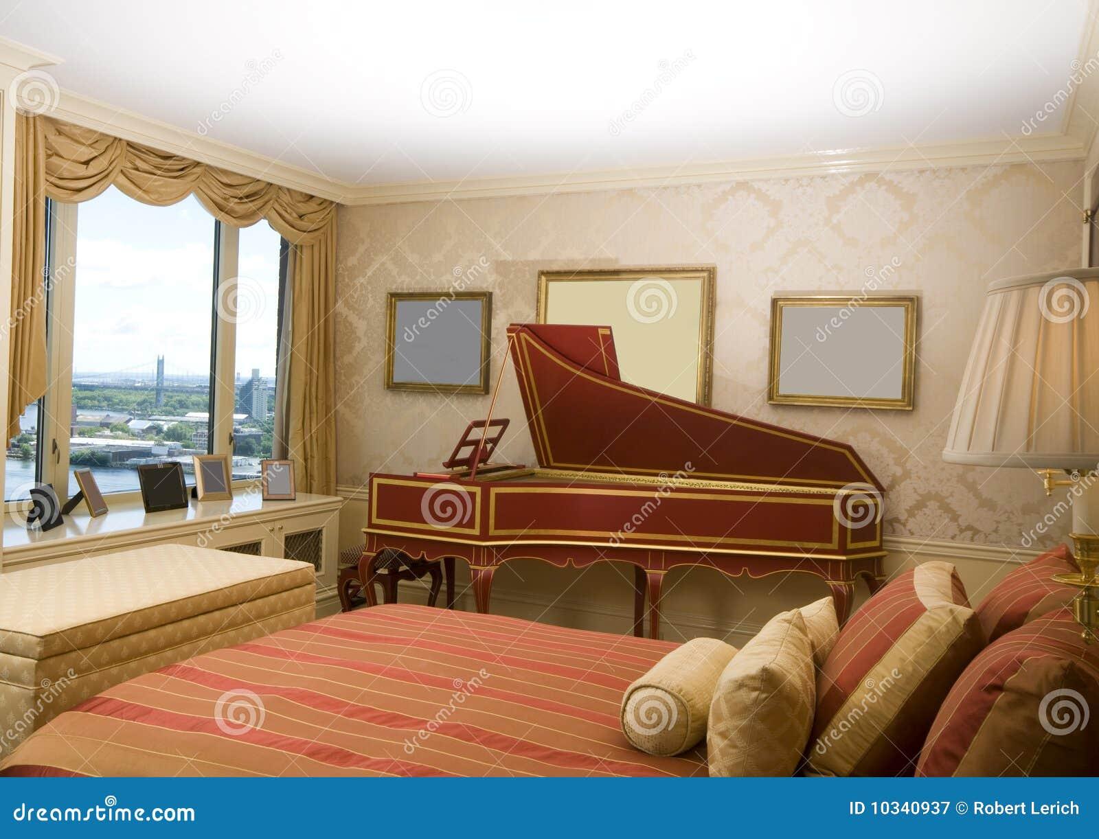 Master Bedroom Harpsichord Penthouse New York Stock Image Image 10340937
