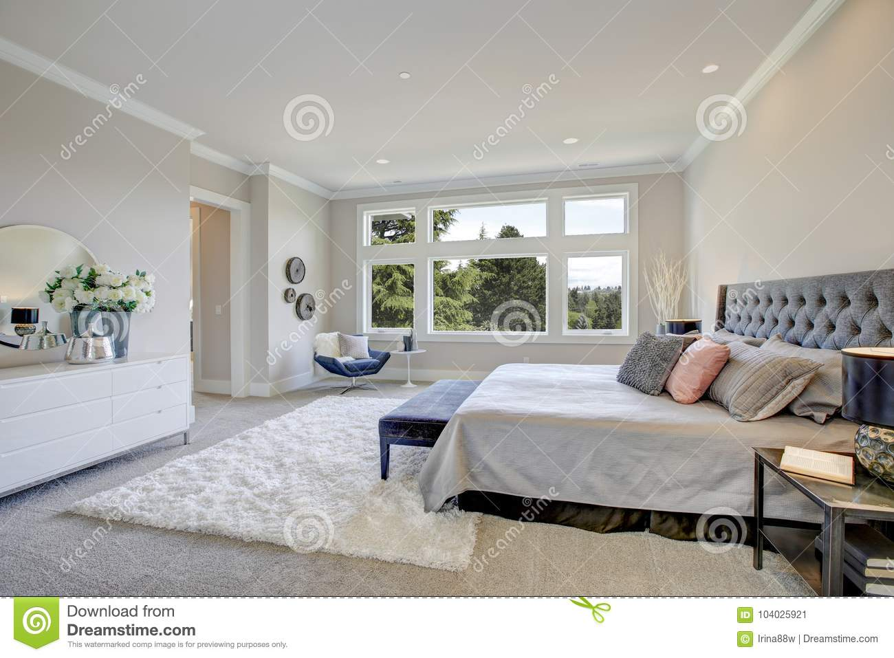 Master Bedroom Interior With King Size Bed Stock Image Image Of Floor Inside 104025921