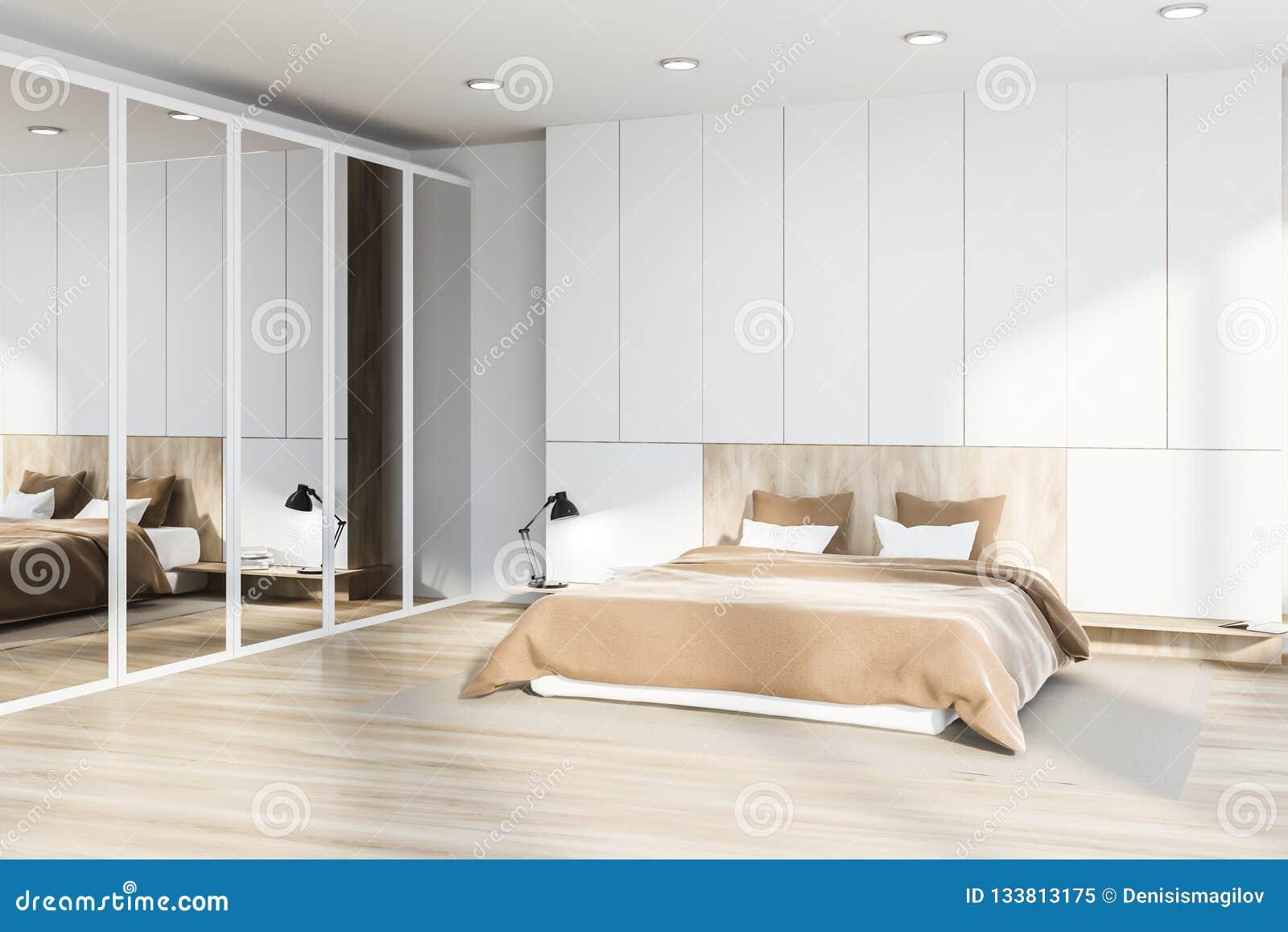 Master Bedroom Interior, Mirror Closet Stock Illustration ...