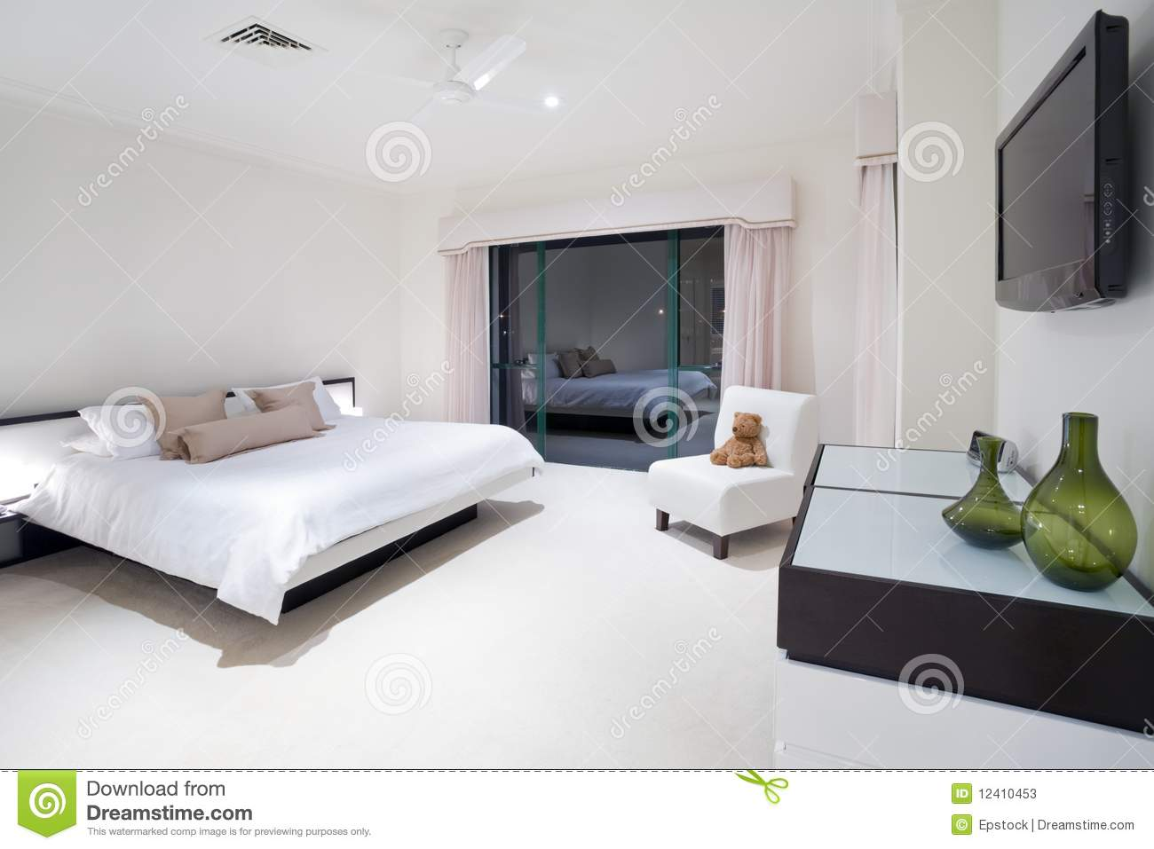 Master Bedroom In Luxury Mansion Stock Image - Image of ...