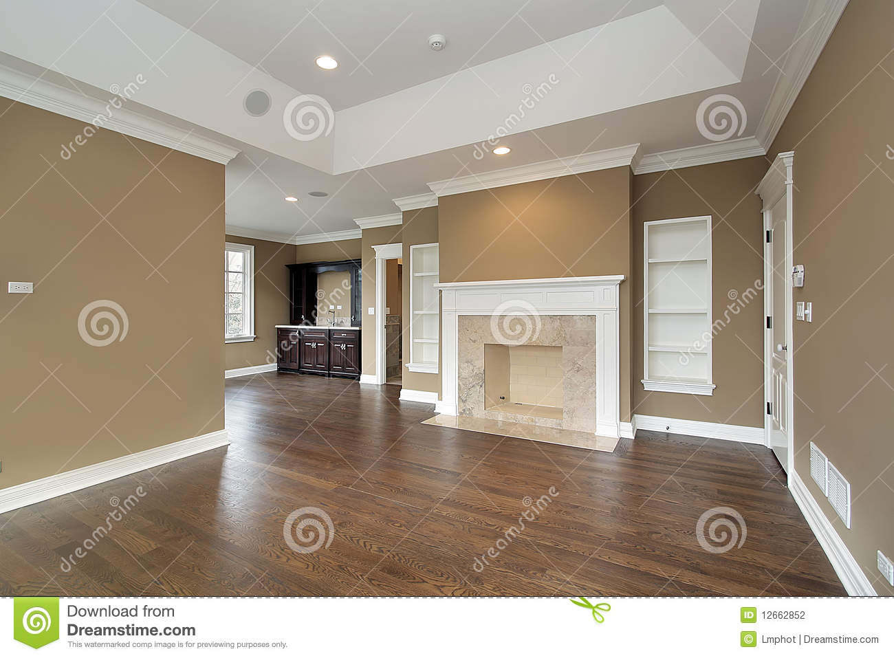 master bedroom with marble fireplace stock photo image of furniture interior 12662852