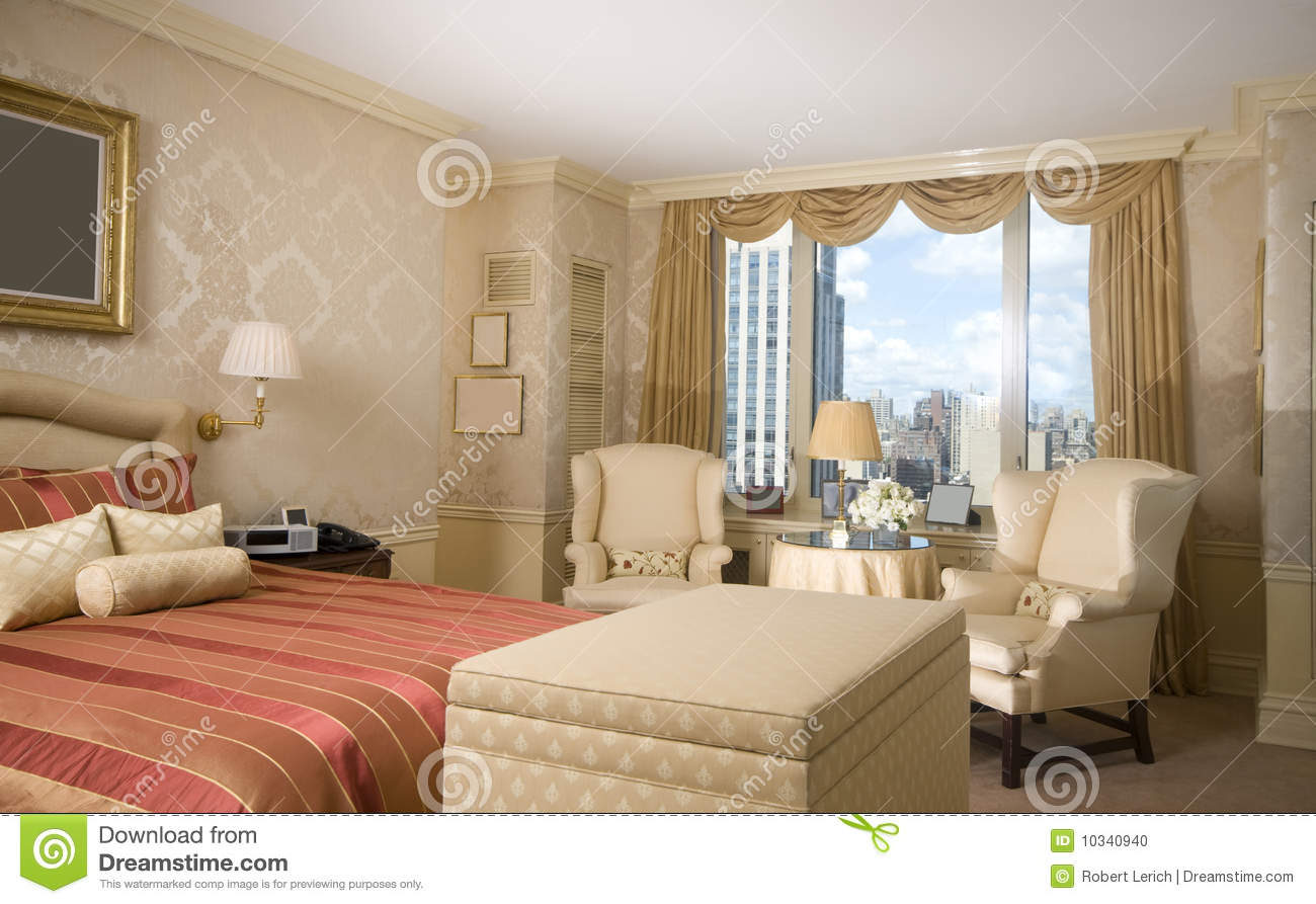 Master Bedroom Penthouse New York Stock Photo Image