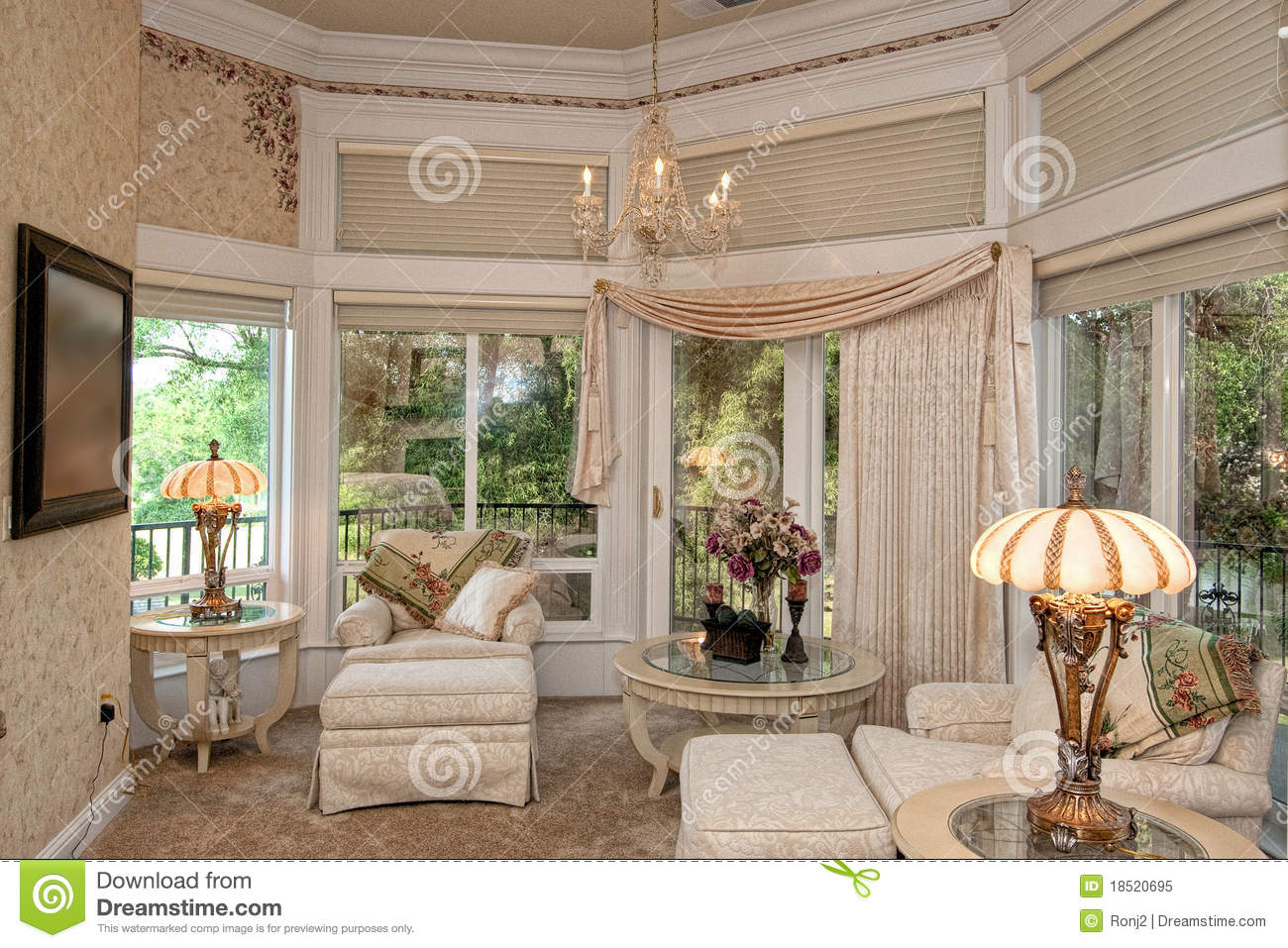 Master Bedroom Sitting Area Royalty Free Stock Photo Image 18520695