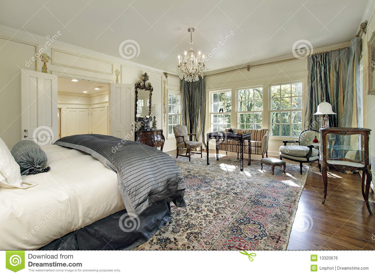 Master Bedroom With Sitting Room Stock Photo Image Of
