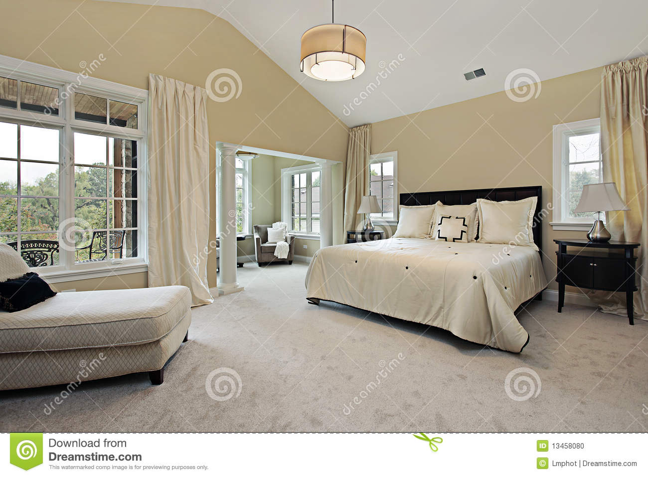 sitting rooms in master bedrooms master bedroom with sitting room royalty free stock image 19710