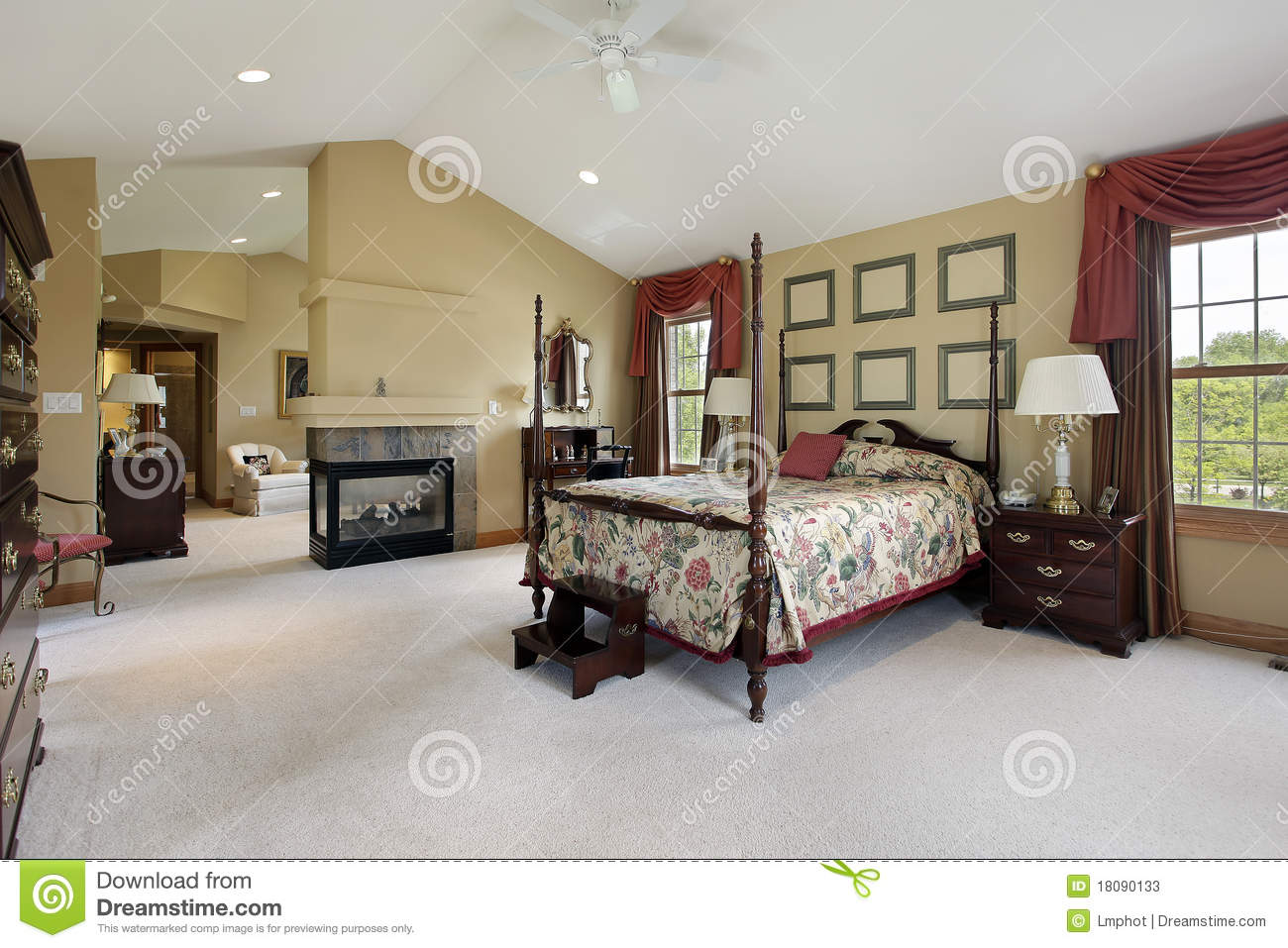 Master Bedroom With Sitting Room Stock Photos Image