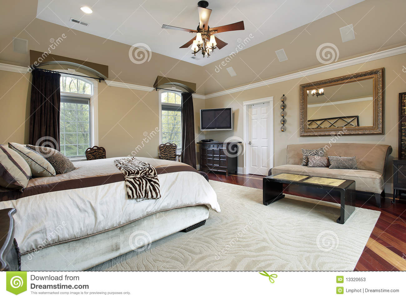 Master Bedroom Tray Ceiling master bedroom with tray ceiling stock photos - image: 13320653