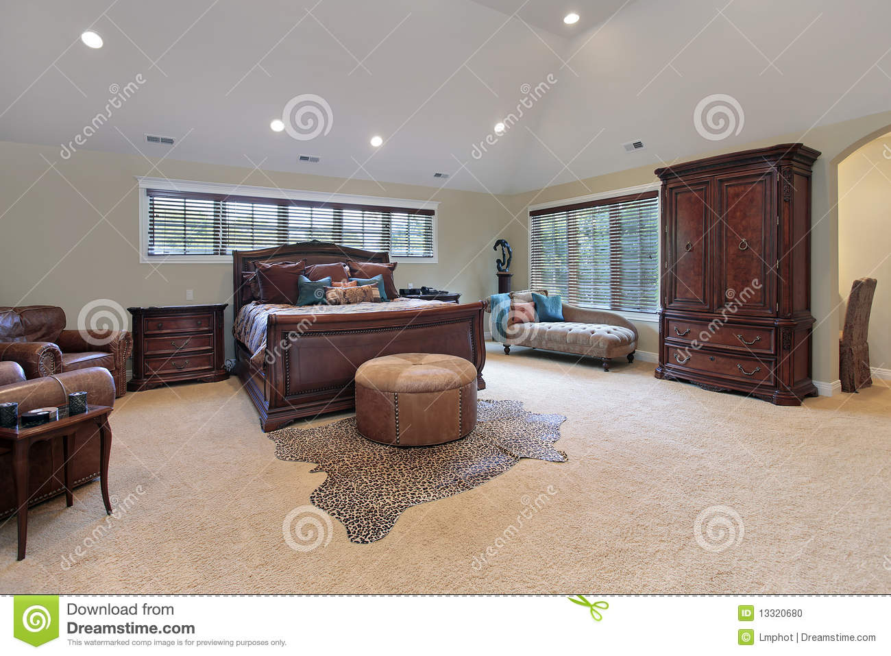 Master Bedroom Tray Ceiling master bedroom with tray ceiling royalty free stock photo - image