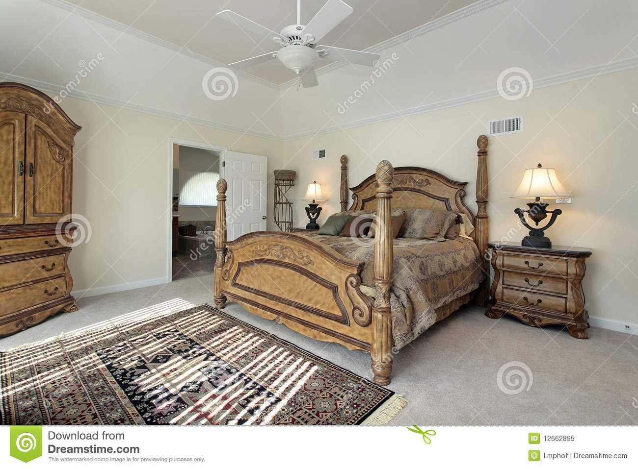 Master Bedroom With Wood Furniture Royalty Free Stock Photo Image 12662895