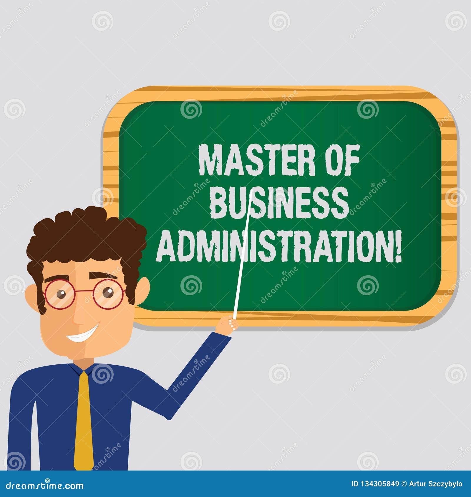 Master en administración de empresas del texto de la escritura Colocación del hombre de las finanzas de la educación del graduado