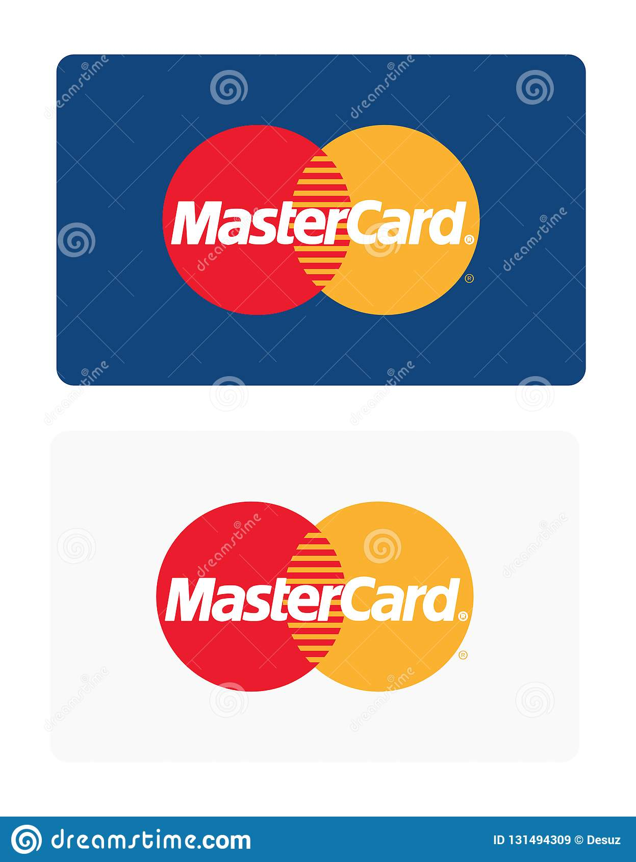 Mastercard logo editorial stock image. Illustration of banking