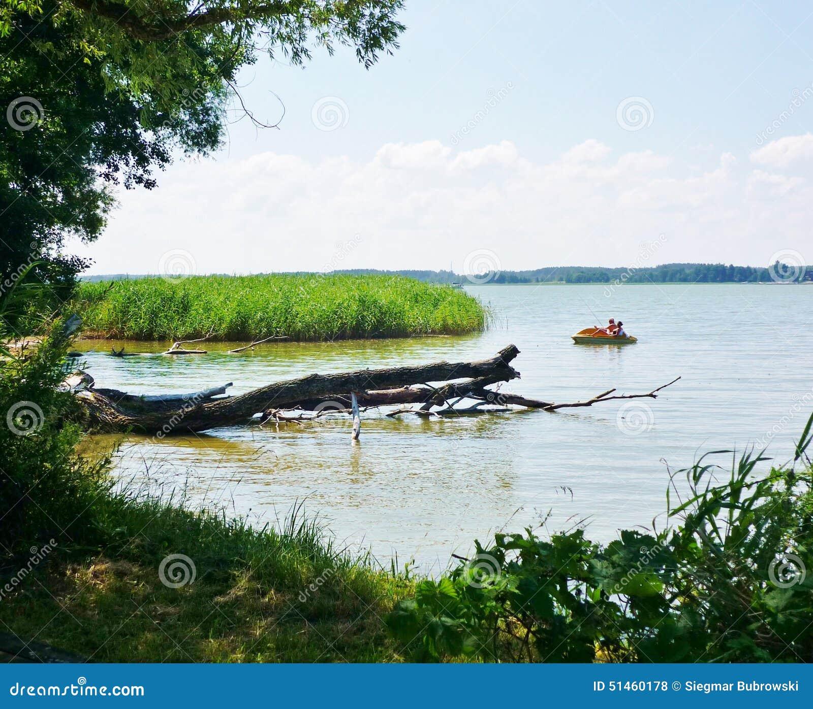 Beautiful Lake House Homes: Masurian Lake Stock Photo