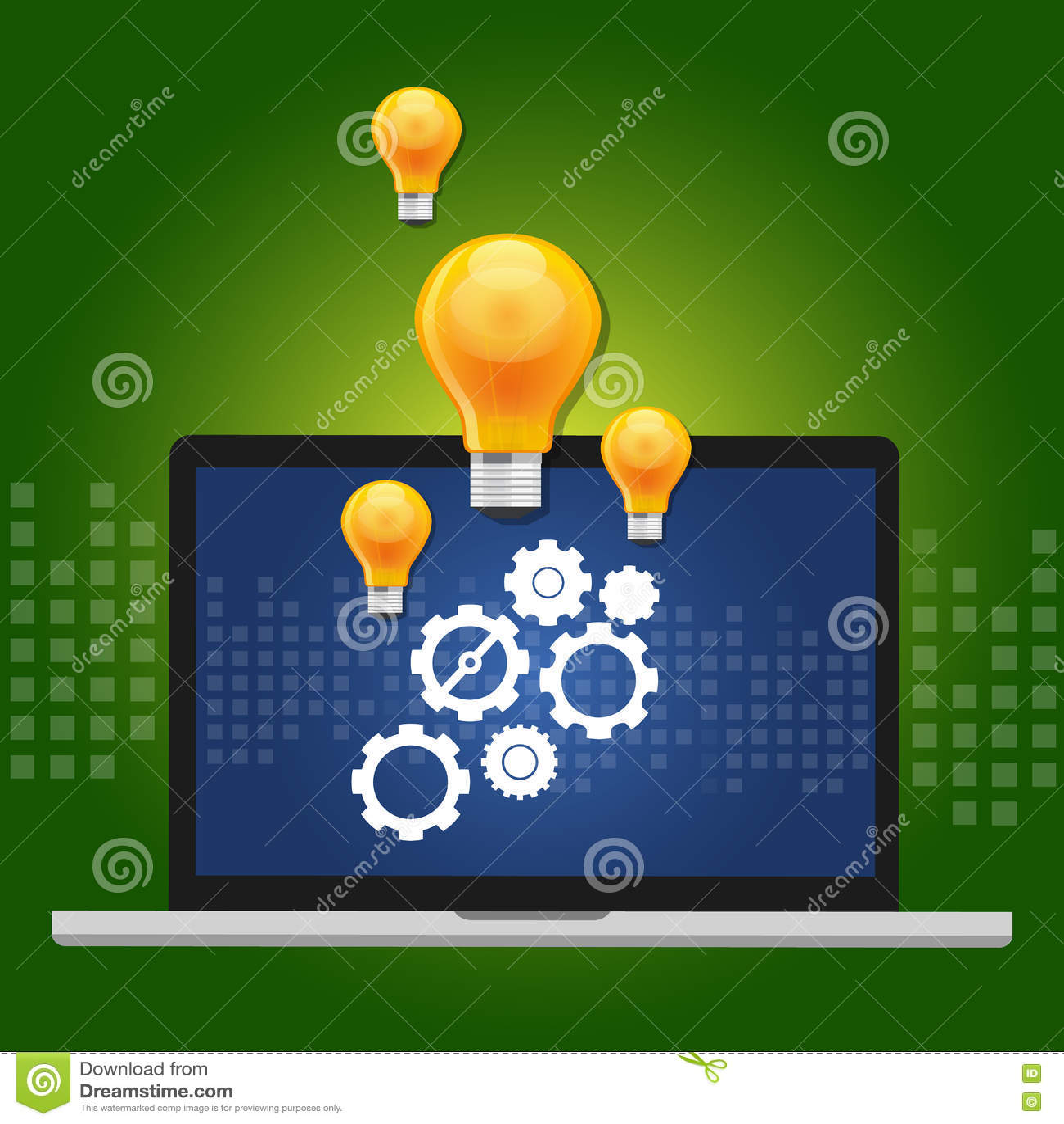 Maszynowego uczenie algorytmu pojęcie z przekładnia inside komputerem i pomysł jako lampa