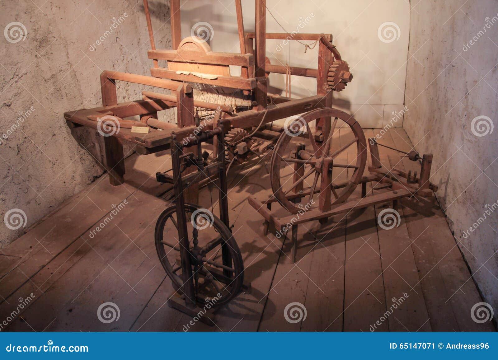 Maszynowy stary tkactwo