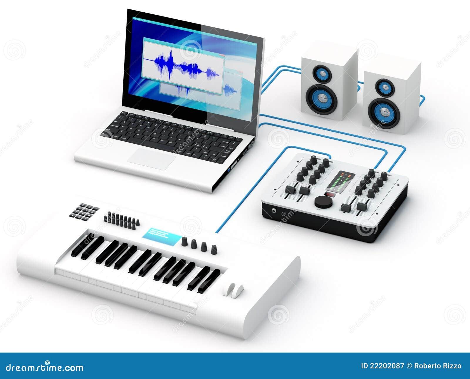 mat riel la maison de studio d 39 enregistrement image stock image du machine studio 22202087. Black Bedroom Furniture Sets. Home Design Ideas