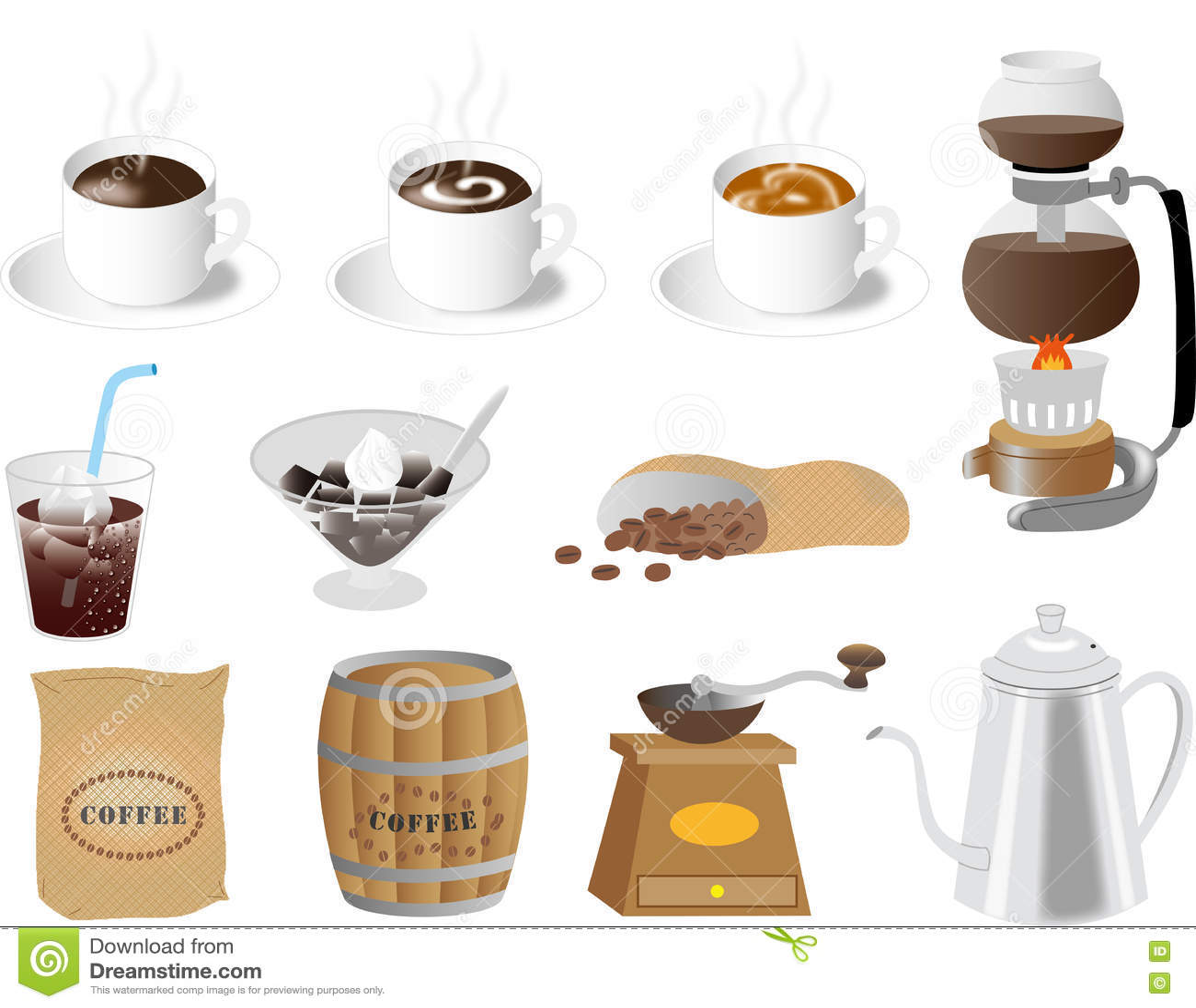Matériel de café pour le Web