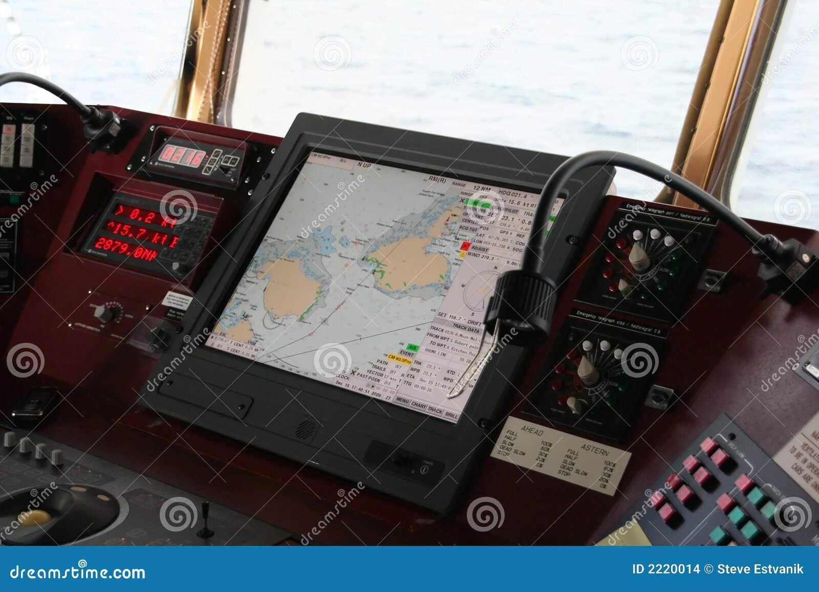 Matériel de navigation sur la passerelle