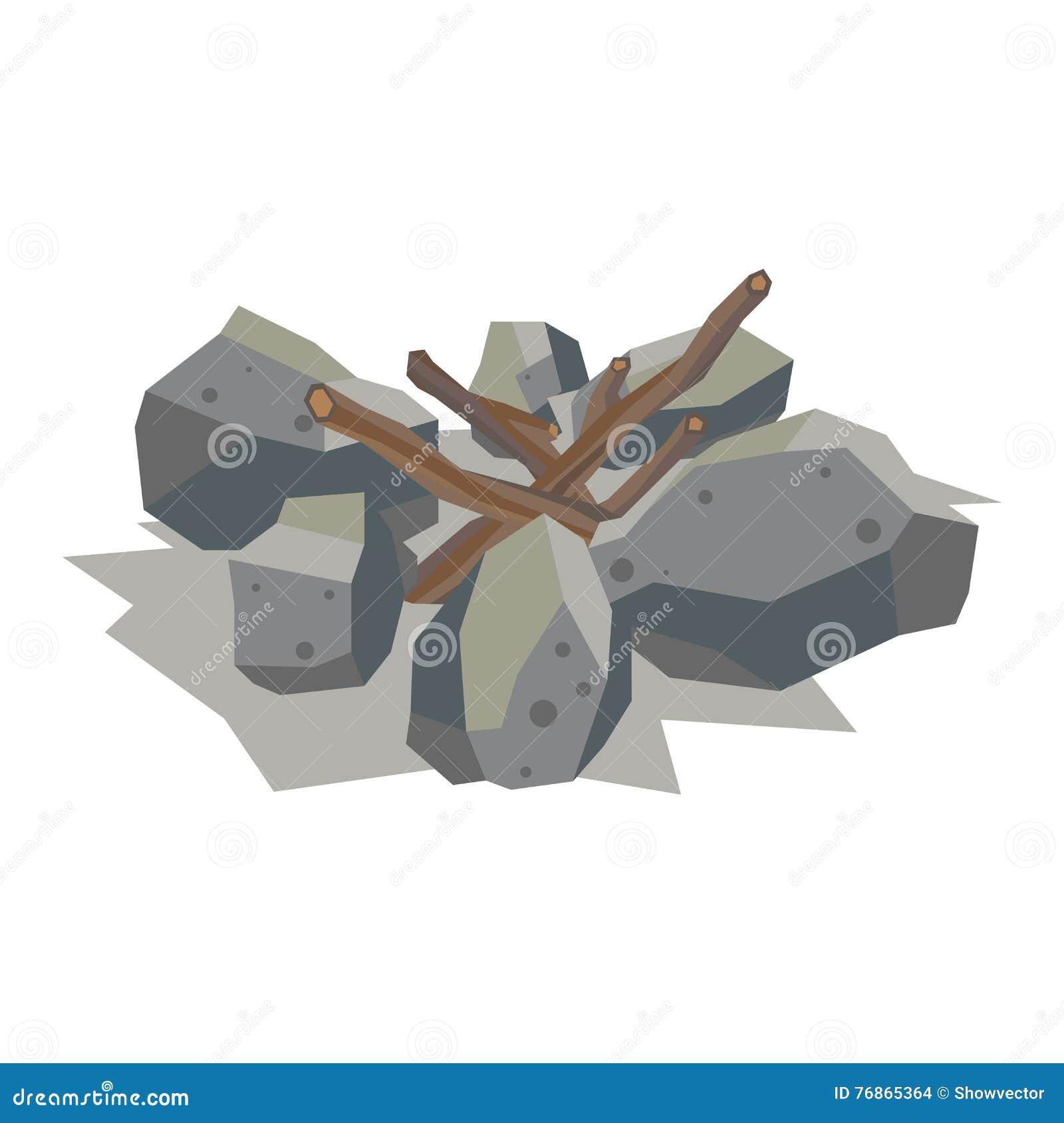 Materiel De Pierre De Vecteur De Pile De Cheminee Illustration De Vecteur Illustration Du Enregistrement Renouvelable 76865364