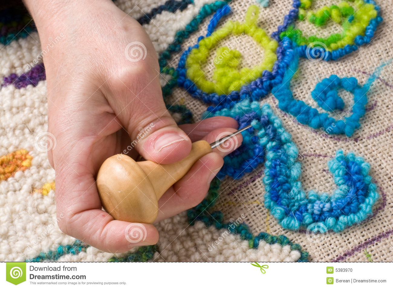 Mat Making By Hand Stock Photo Image 5383970